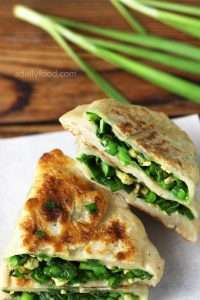 Chinese Chive and Egg Pie