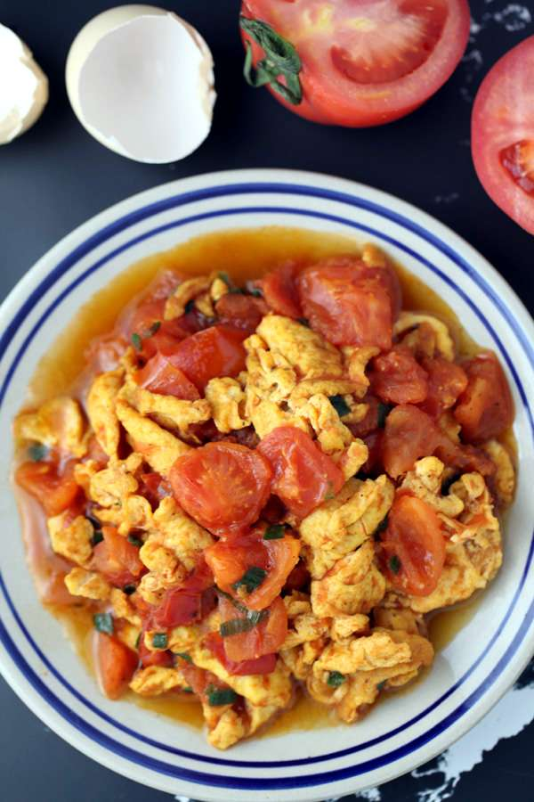 tomato egg stir fry from chinese recipe