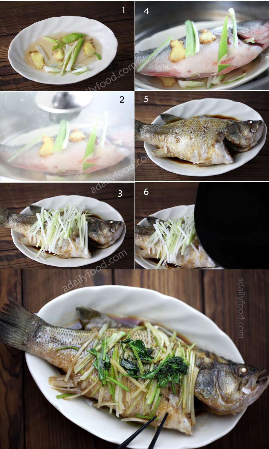 Chinese steamed perch instructions
