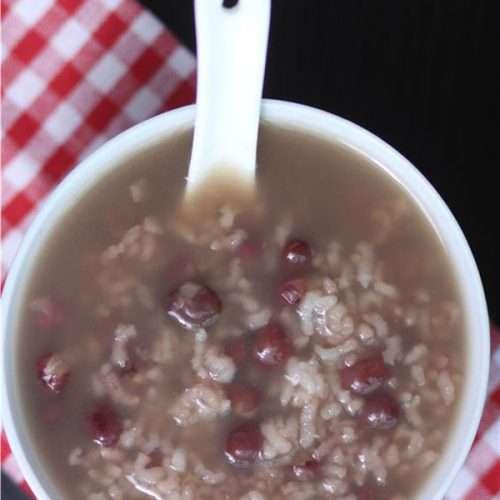 Chinese Red Bean Rice Porridge