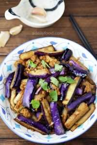 Eggplant and Minced Pork Stir Fry