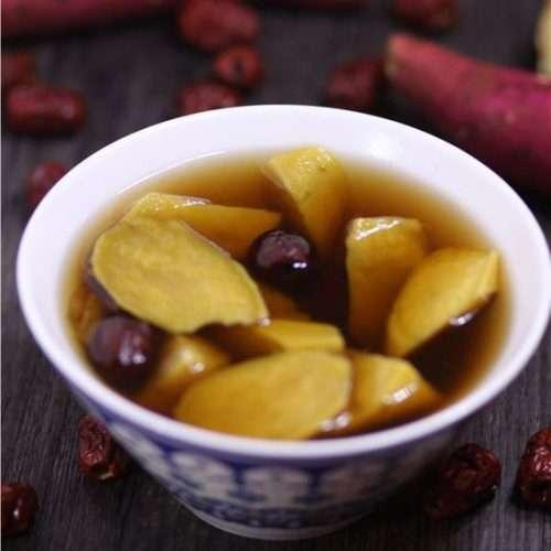 sweet potato sugar water in a bowl