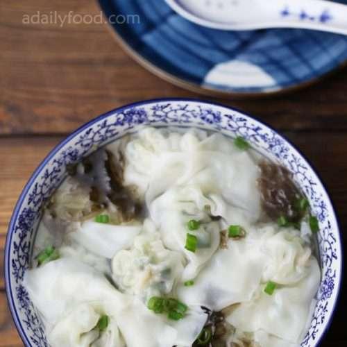 Chinese vegetable wonton