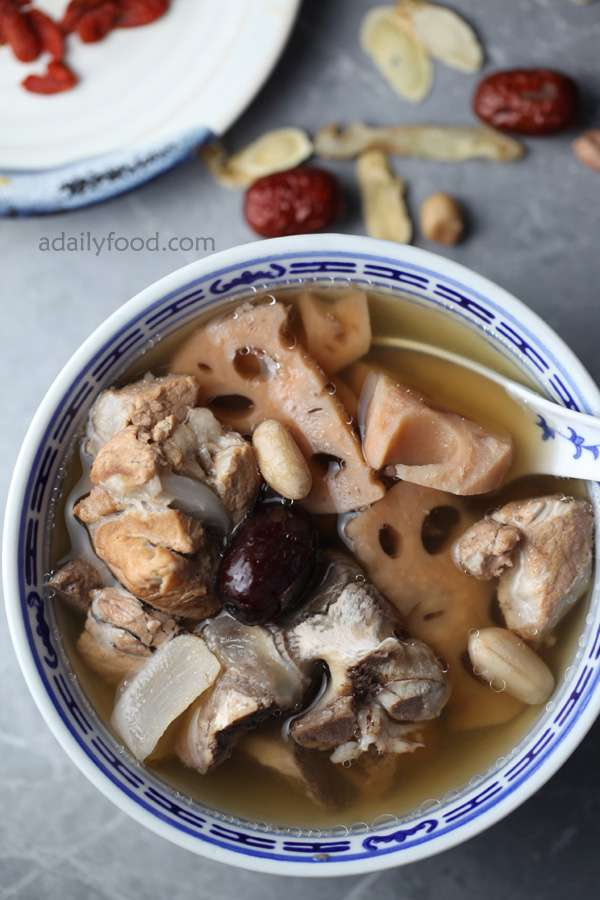 lotus peanut keel soup from China