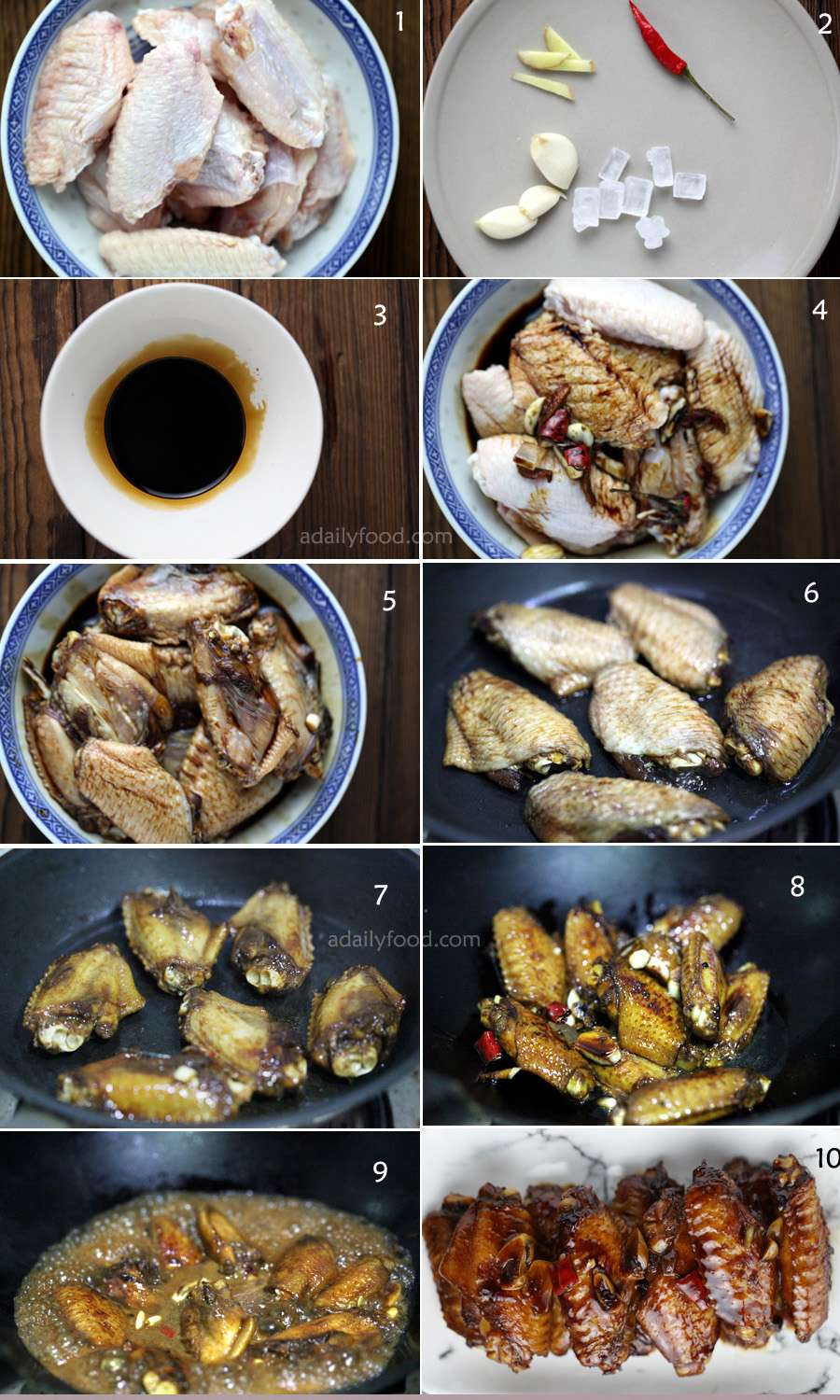Chinese braised chicken wings steps