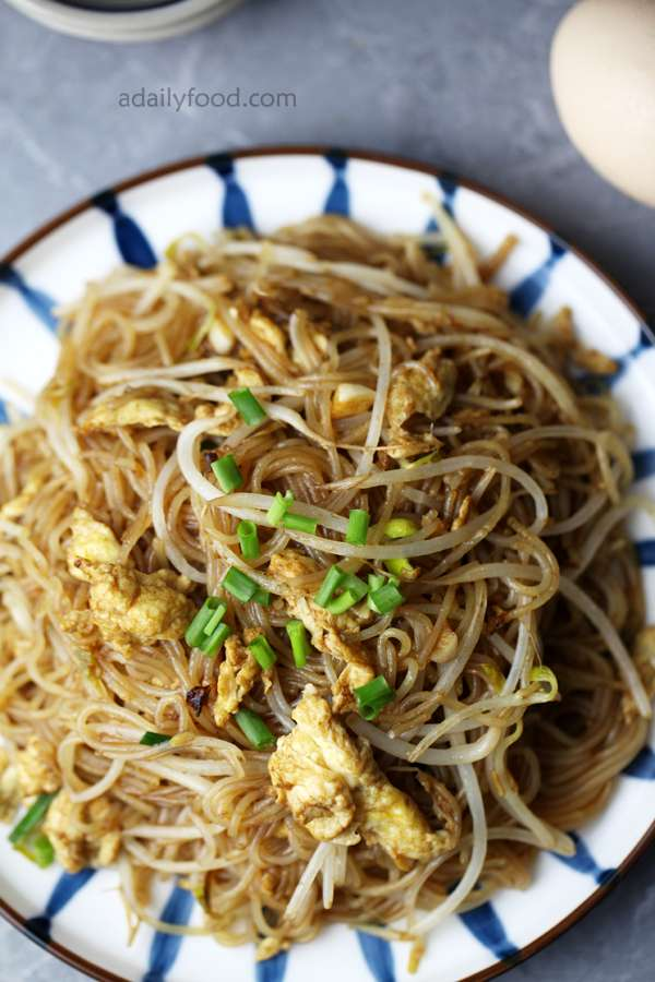 Chinese delicious rice noodles stir fry