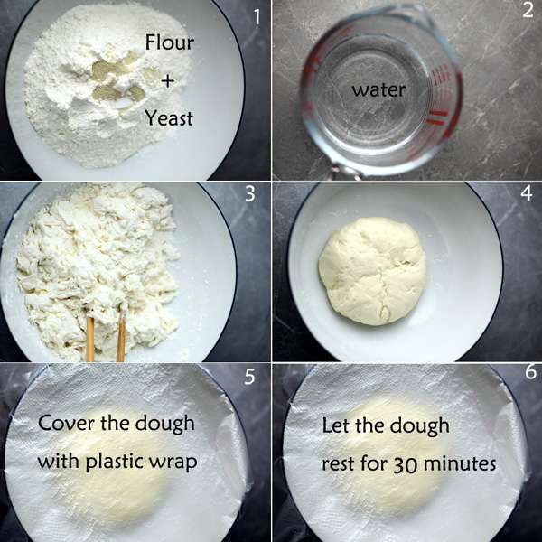 Making a dough steps
