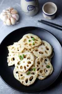 Chinese lotus root stir fry