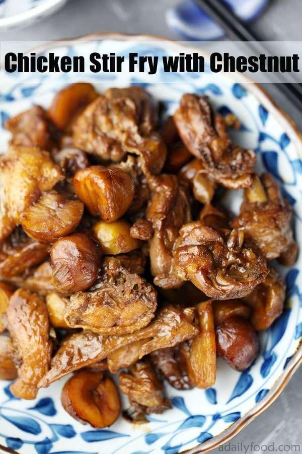 chestnut chicken stir fry