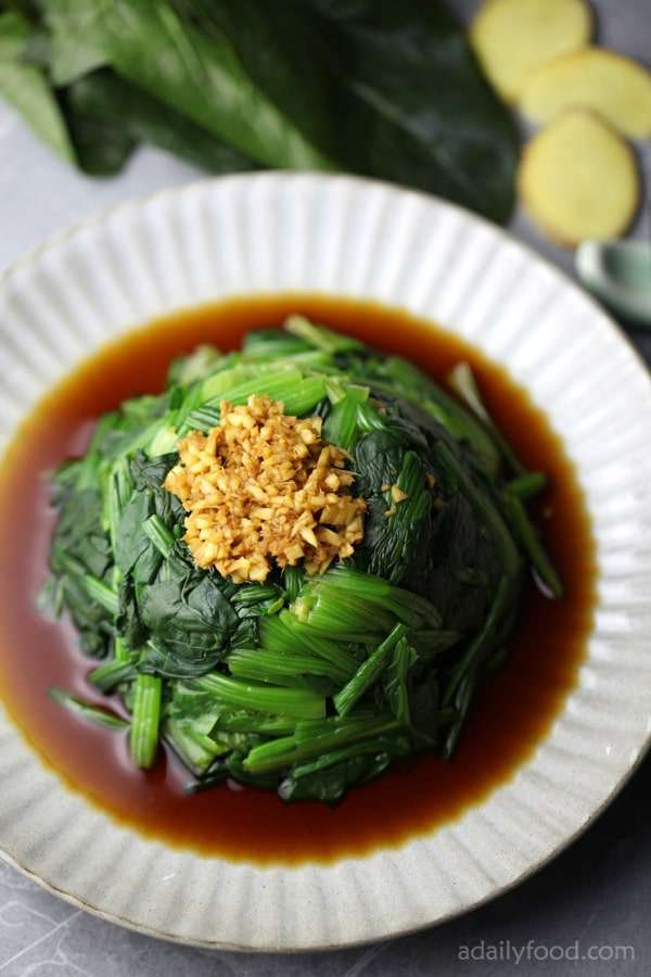 spinach with ginger sauce