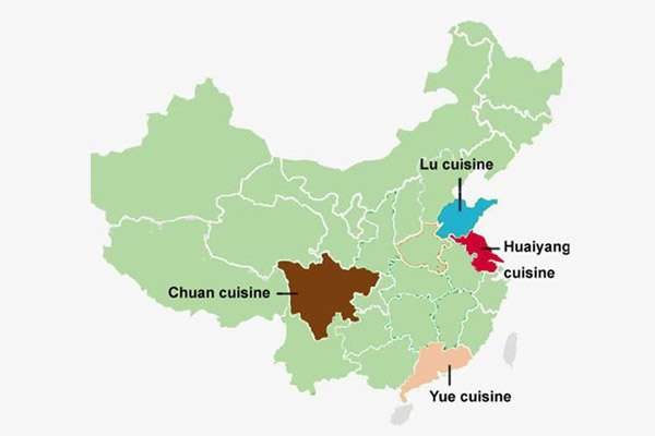 The Four Major Cuisines of China