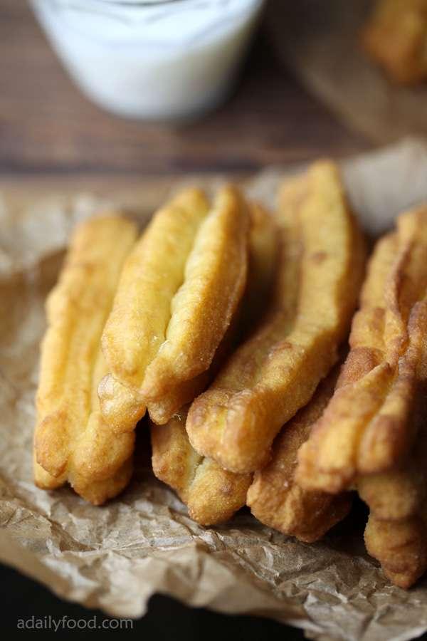Deep fried dough sticks(You Tiao)