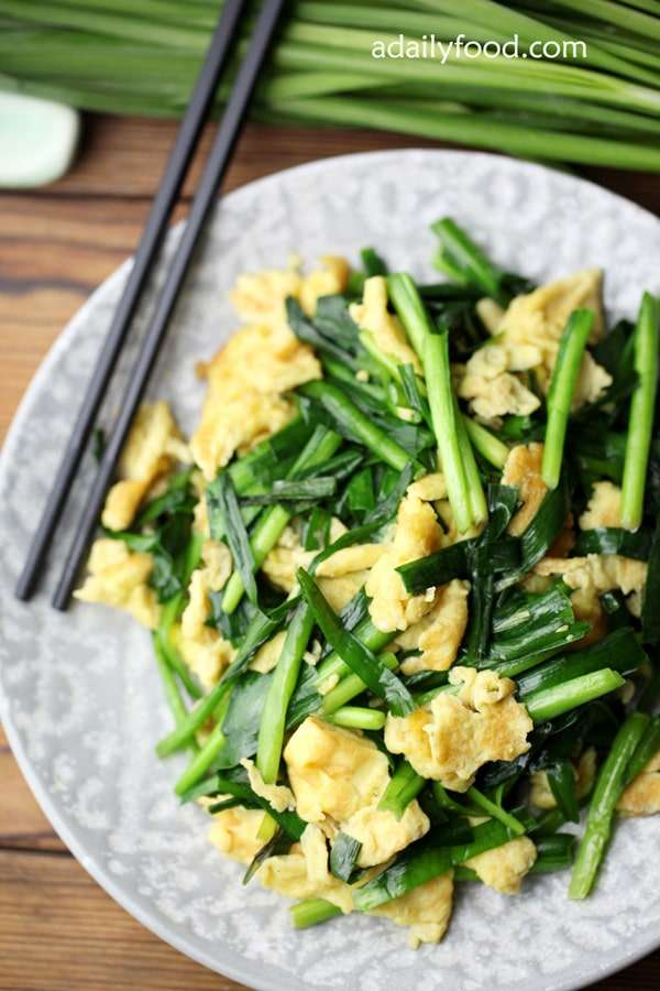 Egg Stir Fry with Chive