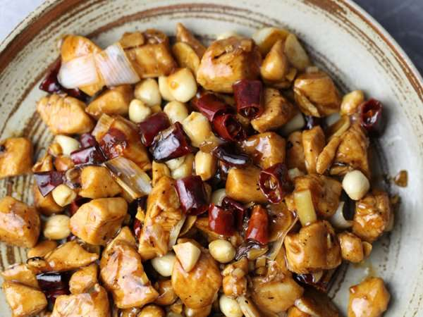 Nice color and delicious Chinese Kung Pao Chicken