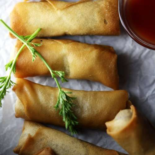 Spring Rolls with Red Bean Paste