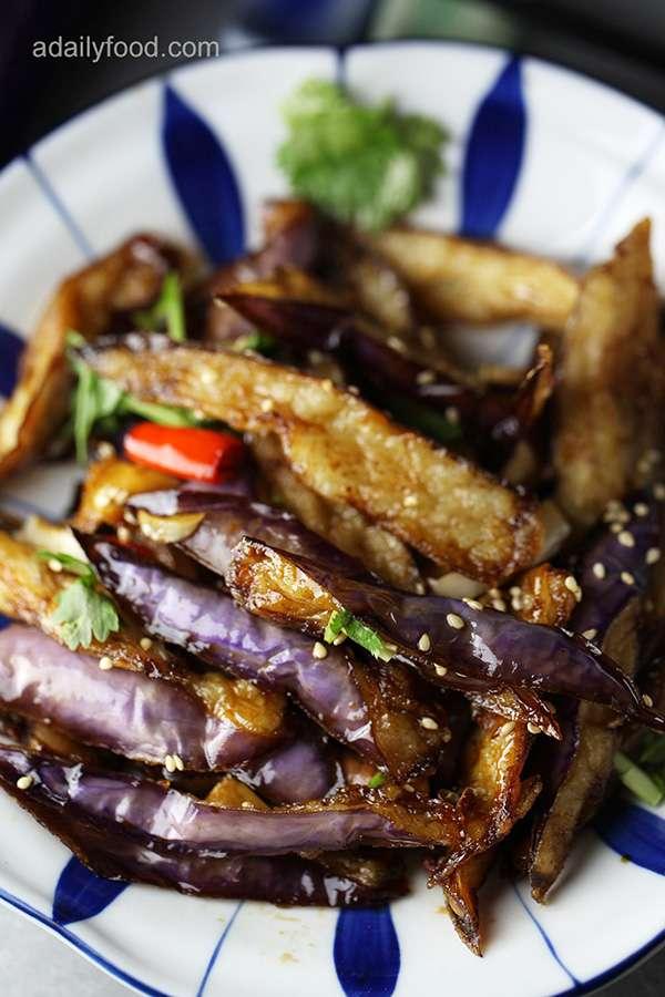 Chinese Crispy Eggplant with Sauce