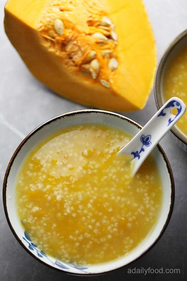Millet congee with pumpkin