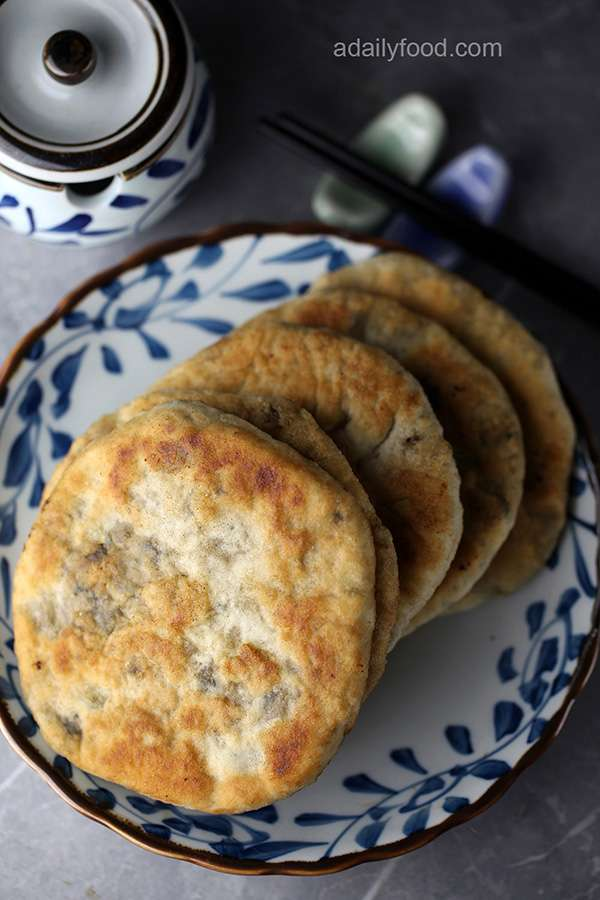 chinese pork pie with preserved mustard