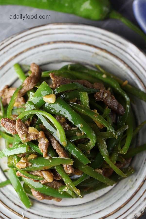 Green Pepper with Pork shredded Stir Fry